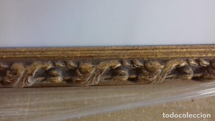 Antigüedades: EXCEPCIONAL MOLDURA DORADA CON LIENZO DE 90X50 INCLUIDO. CONJUNTO NUEVO A ESTRENAR. - Foto 8 - 149372234