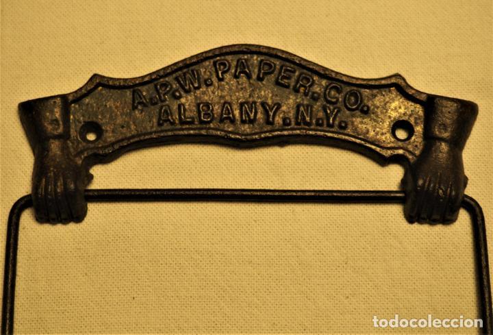 Antigüedades: PORTARROLLOS W.C. A.P.W. PAPER. CO. - ALBANY. N.Y. U.S.A. TOILET PAPER HOLDER - Foto 3 - 149374918