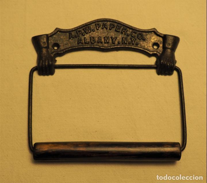 Antigüedades: PORTARROLLOS W.C. A.P.W. PAPER. CO. - ALBANY. N.Y. U.S.A. TOILET PAPER HOLDER - Foto 6 - 149374918