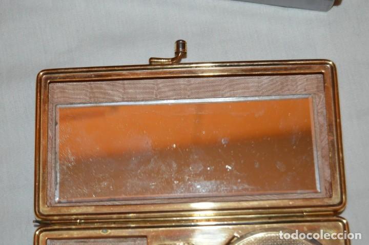 Antigüedades: VINTAGE - ANTIGUO BOLSO DE MAQUILLAJE EN SIMIL CAREY - AÑOS 50 - EN CAJA - PRECIOSO - ENVÍO 24H - Foto 10 - 149388286