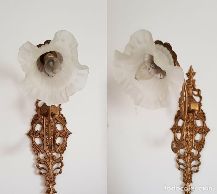 APLIQUES DE BRONCE (Antigüedades - Iluminación - Apliques Antiguos)