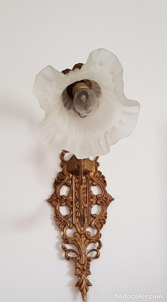 Antigüedades: APLIQUES DE BRONCE - Foto 13 - 149395670