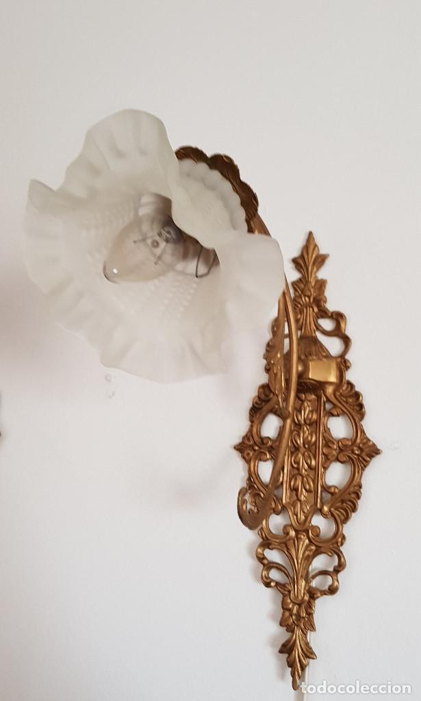 Antigüedades: APLIQUES DE BRONCE - Foto 14 - 149395670