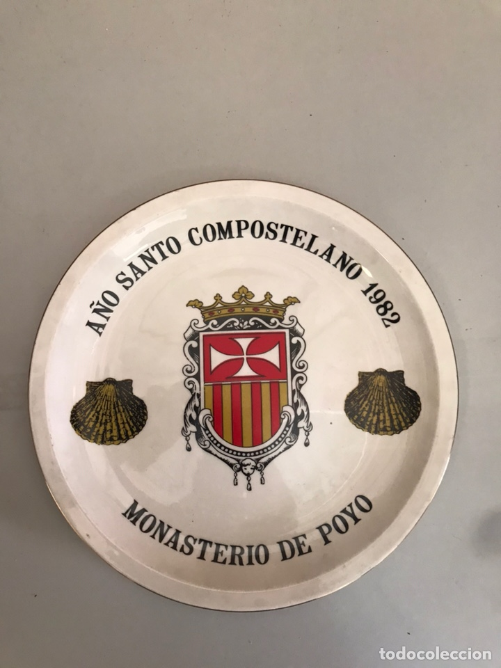 ANTIGUO PLATO MONASTERIO DE POYO (Antigüedades - Porcelanas y Cerámicas - Otras)