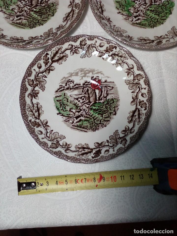Antigüedades: (MYOTTS COUNTRY LIFE) 2 TAZAS DE CAFÉ CON LECHE, 1 SALSERA Y 6 PLATOS PEQUEÑOS PORCELANA (ENGLAND) - Foto 9 - 149409210