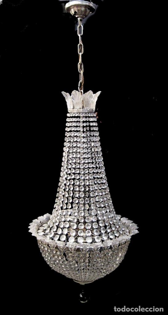 Antigüedades: BESTIAL LAMPARA VIP ANTIGUA 165CM CRISTAL DE BACCARAT ESTILO SACO IMPERIO 1940 GRAN HOTEL TIENDA - Foto 7 - 75745743