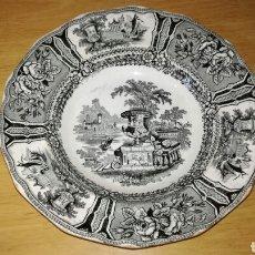 Antigüedades: PLATO HONDO DE SARGADELOS NEGRO. Lote 149433045