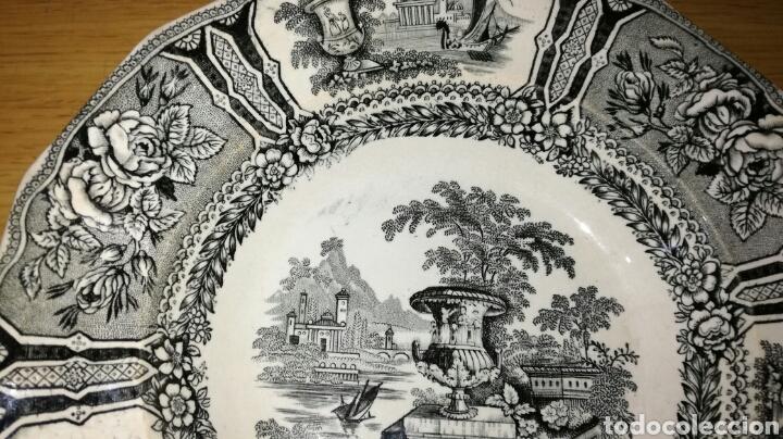 Antigüedades: Plato hondo de sargadelos negro - Foto 3 - 149433045