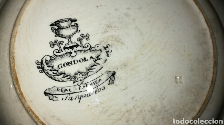 Antigüedades: Plato hondo de sargadelos negro - Foto 6 - 149433045