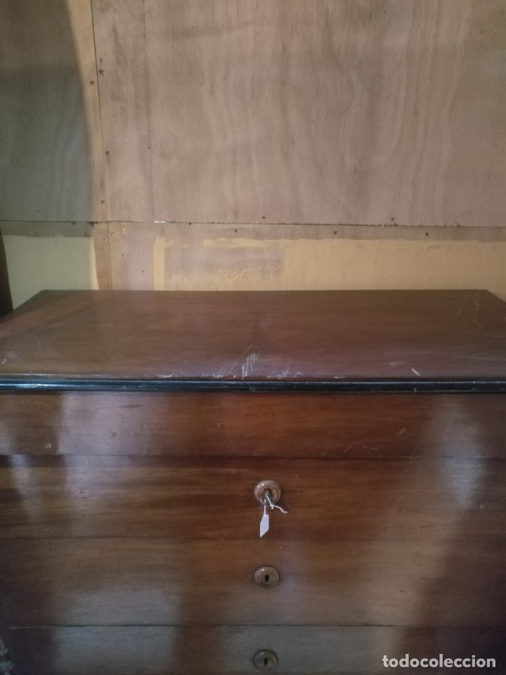 Antigüedades: Comoda Isabelina caoba - Foto 3 - 38576969