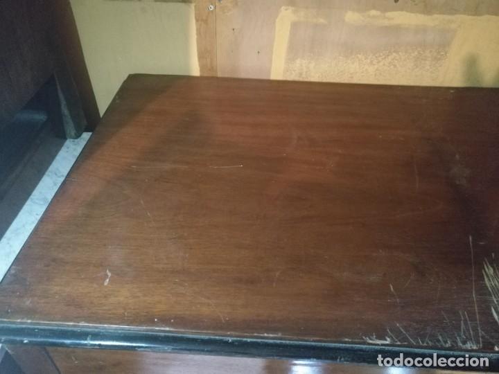 Antigüedades: Comoda Isabelina caoba - Foto 5 - 38576969
