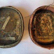 Antigüedades: RELICARIO DE ESTUCHE CON 4 RELIQUIAS SIGLO XVII CON ARCÁNGEL MIGUEL. LEER CONDICIONES ANTES DE PUJAR. Lote 149461252