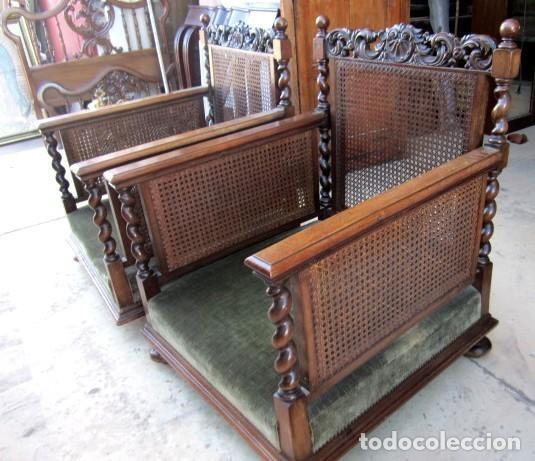 Antigüedades: Sofa con 2 sillones estilo renacimiento - Foto 2 - 149463206