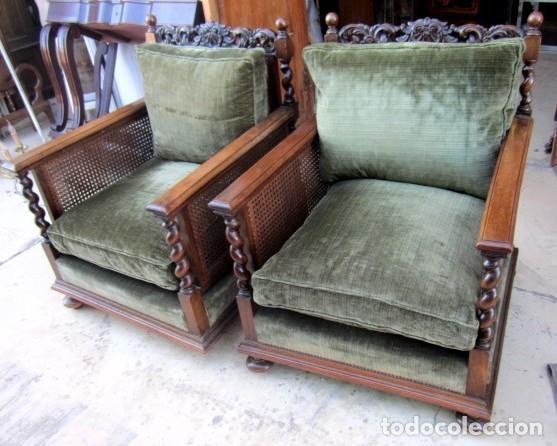 Antigüedades: Sofa con 2 sillones estilo renacimiento - Foto 3 - 149463206