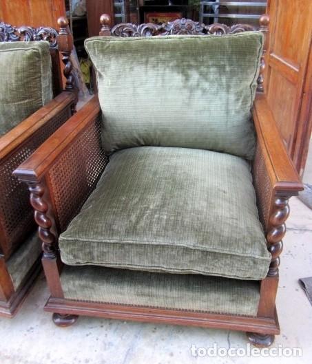 Antigüedades: Sofa con 2 sillones estilo renacimiento - Foto 4 - 149463206