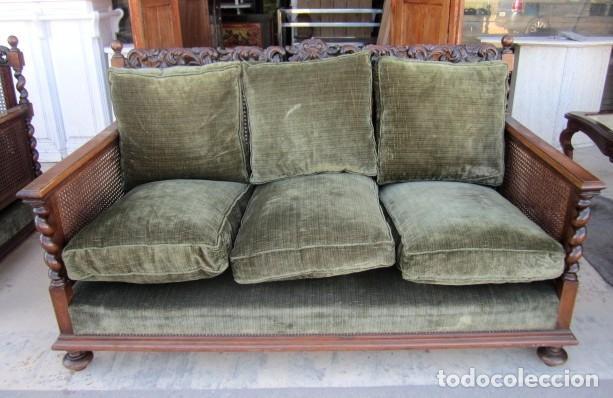 Antigüedades: Sofa con 2 sillones estilo renacimiento - Foto 5 - 149463206