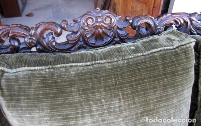 Antigüedades: Sofa con 2 sillones estilo renacimiento - Foto 6 - 149463206