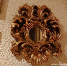 Antiquitäten - PEQUEÑA CORNUCOPIA ESPEJO MADERA TALLADA - 149482534