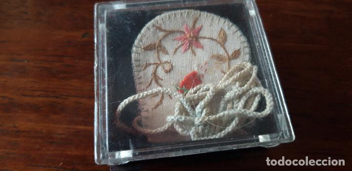 Antigüedades: Escapulario bordado - Foto 6 - 149493698