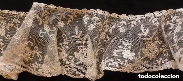 Antigüedades: ANTIGUO CUELLO -CAPELINA DE ENCAJE DE BRUSELAS S. XIX - Foto 5 - 149530114