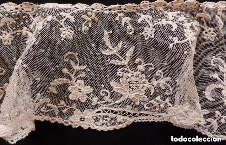 Antigüedades: ANTIGUO CUELLO -CAPELINA DE ENCAJE DE BRUSELAS S. XIX - Foto 6 - 149530114