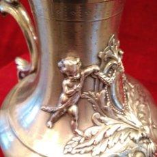 Antigüedades: JARRA DE PLATA DE LEY SIGLO XIX 1200 GRAMOS. Lote 149568514