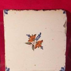 Antigüedades: AZULEJO VALENCIANO FLOR. Lote 149578862