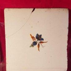 Antigüedades: AZULEJO VALENCIANO FLOR. Lote 149579158
