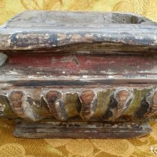 Antigüedades: ANTIGUA PEANA MADERA.. Lote 149583486