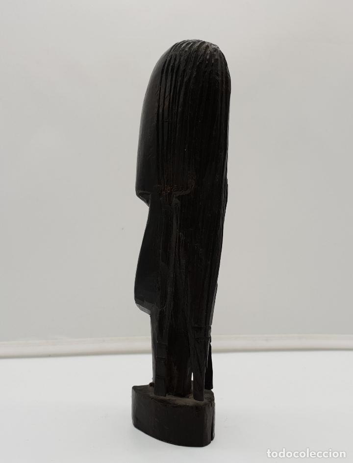 Antigüedades: Bonito busto femenino antiguo africano tallado a mano en Kenia, Africa. - Foto 2 - 149589002