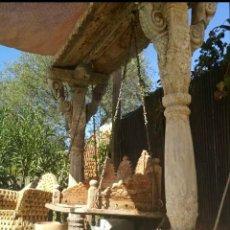 Antigüedades: COLUMPIO ANTIGUO INDU, TALLADO. Lote 149604090