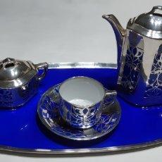 Antigüedades: JUEGO CAFE INDIVIDUAL PORCELANA HUTSCHENREUTHER. BAVARIA. Lote 149615550