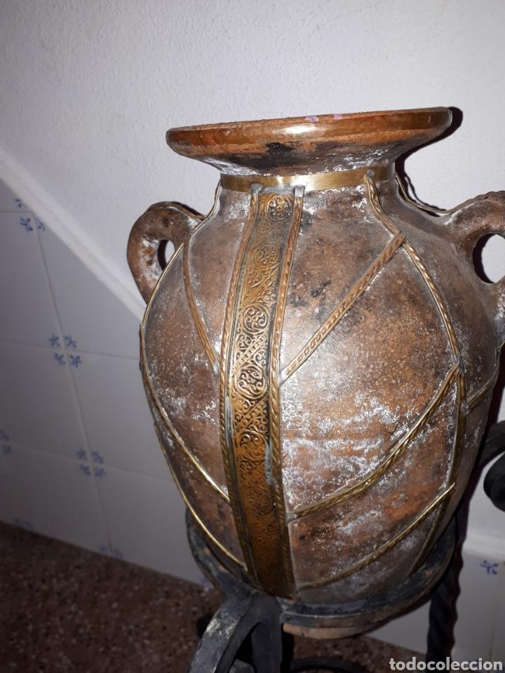 ANTIGUA TINAJA ORZA CANTARO DE BARRO (Antigüedades - Porcelanas y Cerámicas - Otras)