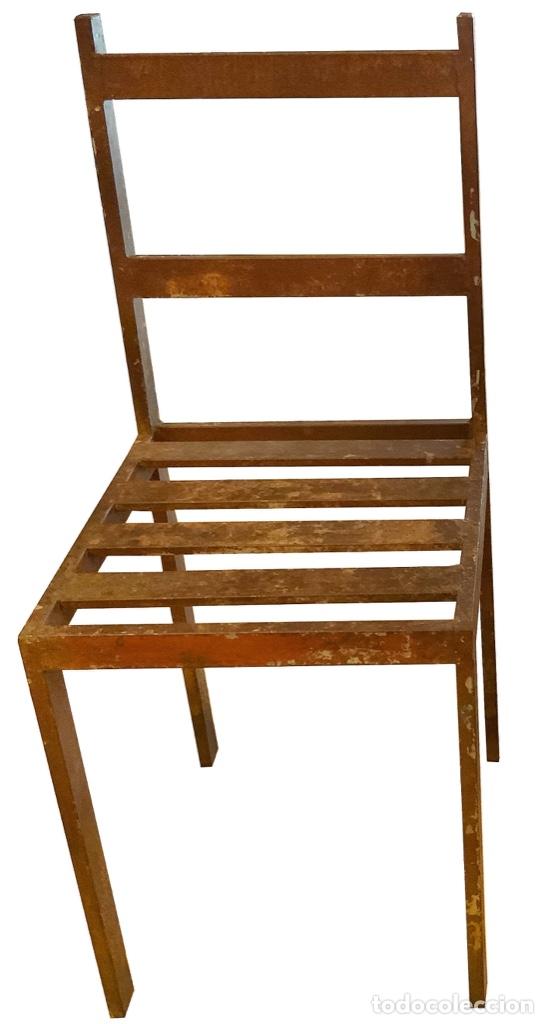 Antigüedades: Antiguas sillas de hierro industriales.Espectaculares. - Foto 2 - 149690910