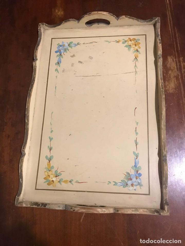 Antigüedades: Antigua bandeja 45,5 x 31,5cm - Foto 2 - 140886854