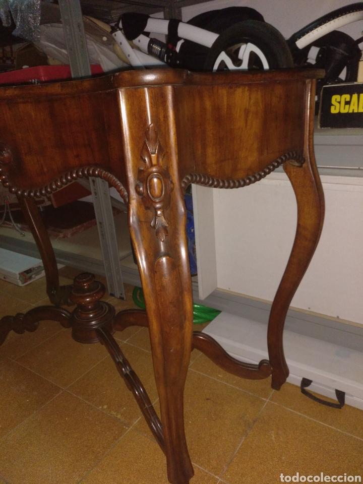 Antigüedades: Consola isabelina S XIX caoba - Foto 5 - 149701429