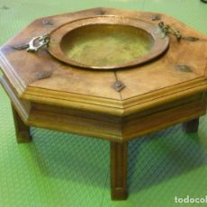 Antigüedades: MESA BRASERO OCTOGONAL. Lote 149702098