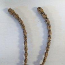 Antigüedades: GUIRNALDAS DE BRONCE MUY BONITAS PARA HACER DECORACIÓN O APLIQUES. Lote 149706604