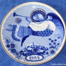 Antigüedades: PLATO DECORATIVO SANTA CLARA - EDICIÓN NAVIDAD 1984. Lote 149707070