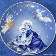 Antigüedades: PLATO DECORATIVO SANTA CLARA - EDICIÓN NAVIDAD 1981. Lote 149707878