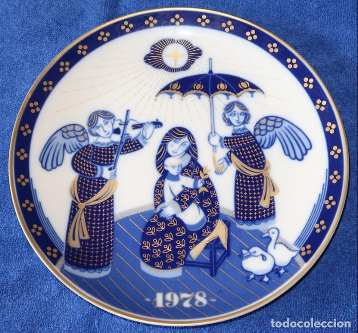 PLATO DECORATIVO SANTA CLARA - EDICIÓN NAVIDAD 1978 (Antigüedades - Porcelanas y Cerámicas - Santa Clara)