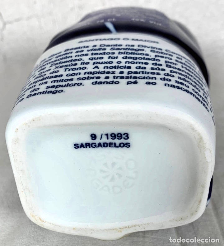 Antigüedades: Botella en porcelana de Sargadelos - Santiago el Mayor - Aguardiente descatalogada - Foto 5 - 147820048