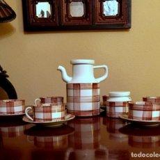Antigüedades: ANTIGUO JUEGO DE CAFÉ DE 6 SERVICIOS CASTRO - SARGADELOS.. Lote 149743038