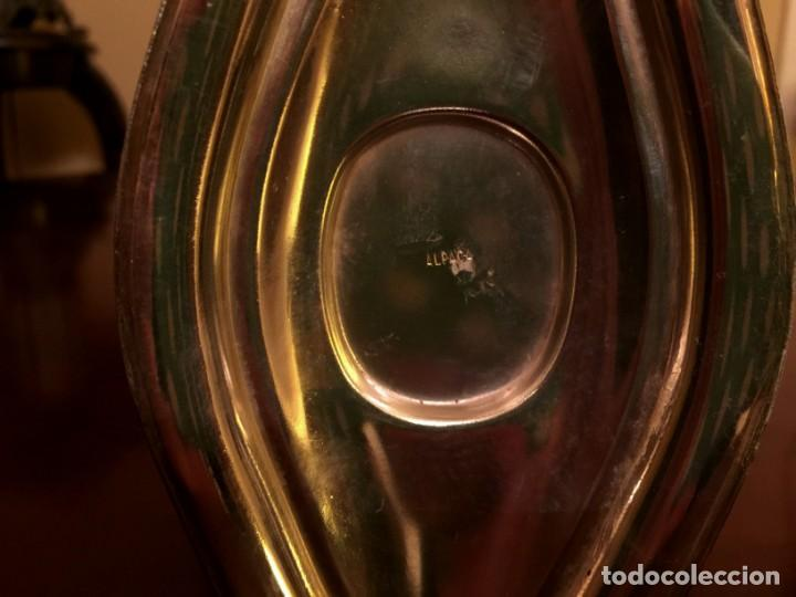 Antigüedades: ANTIGUO CISNE CALENTADOR DE COPA DE COÑAC DE ALPACA. - Foto 8 - 149745042