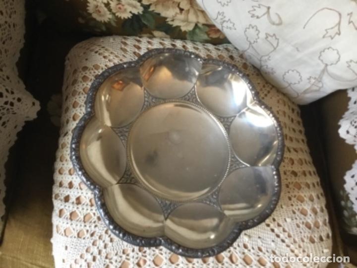 Antigüedades: Centro de mesa modernista ( baño de plata ) - Foto 2 - 149745558