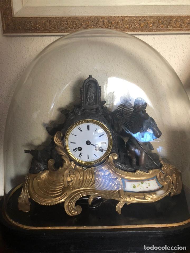 Antigüedades: Reloj de fanal - Foto 2 - 149748705