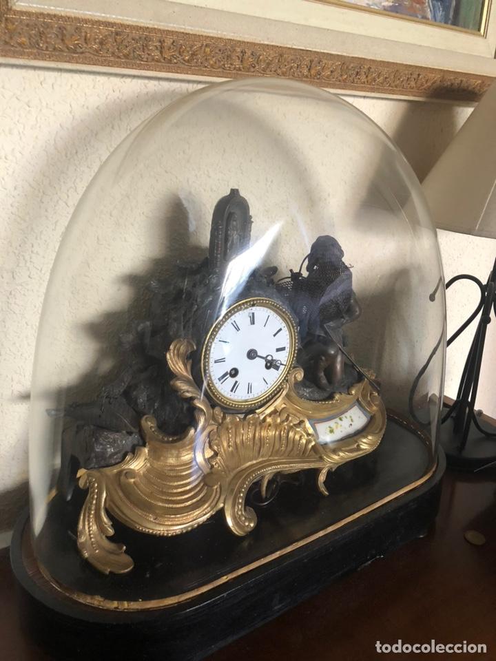 Antigüedades: Reloj de fanal - Foto 3 - 149748705