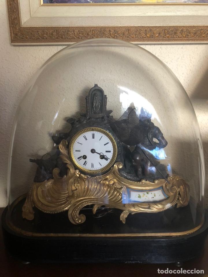 Antigüedades: Reloj de fanal - Foto 4 - 149748705