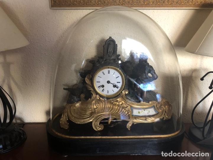 Antigüedades: Reloj de fanal - Foto 5 - 149748705