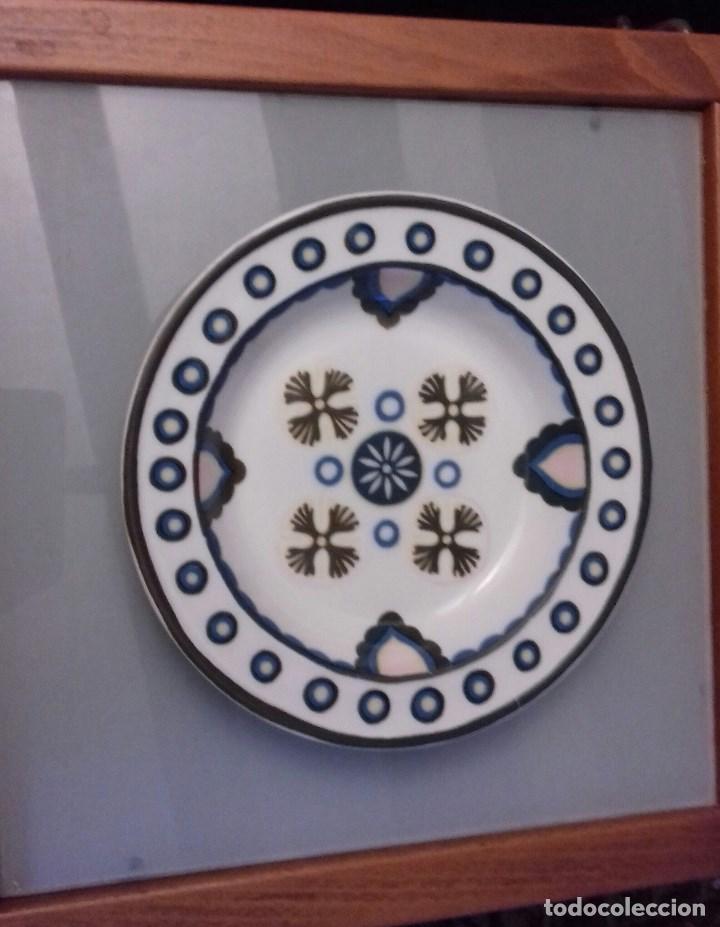 BIDASOA PORCELANA LÍNEA AVANTE PLATO HONDO DECORADO GRAN FUEGO MADE IN SPAIN (Antigüedades - Porcelanas y Cerámicas - Otras)